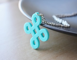 Large Celtic Knot Necklace