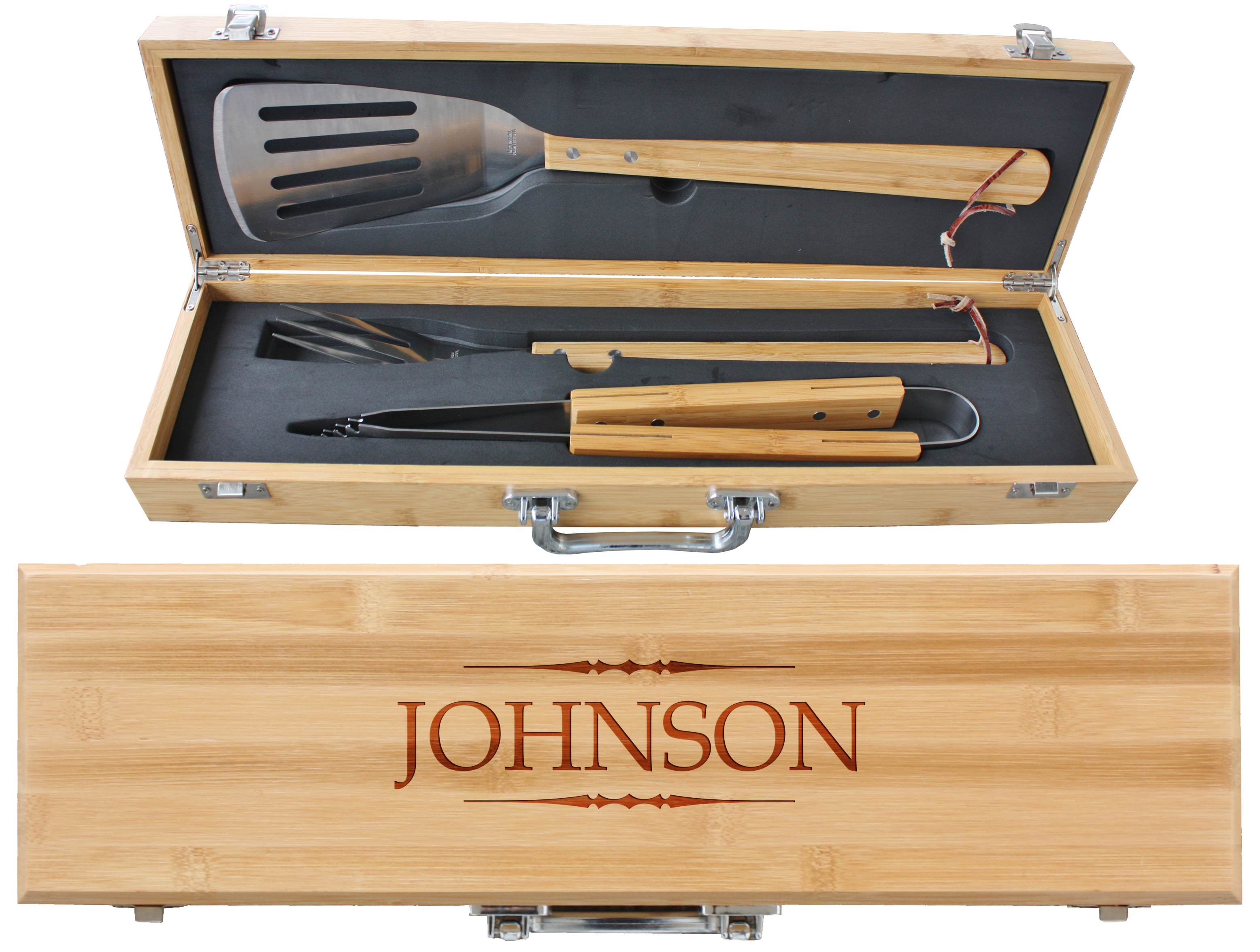 Engraved Father S Day Bbq Grill Set For Dad
