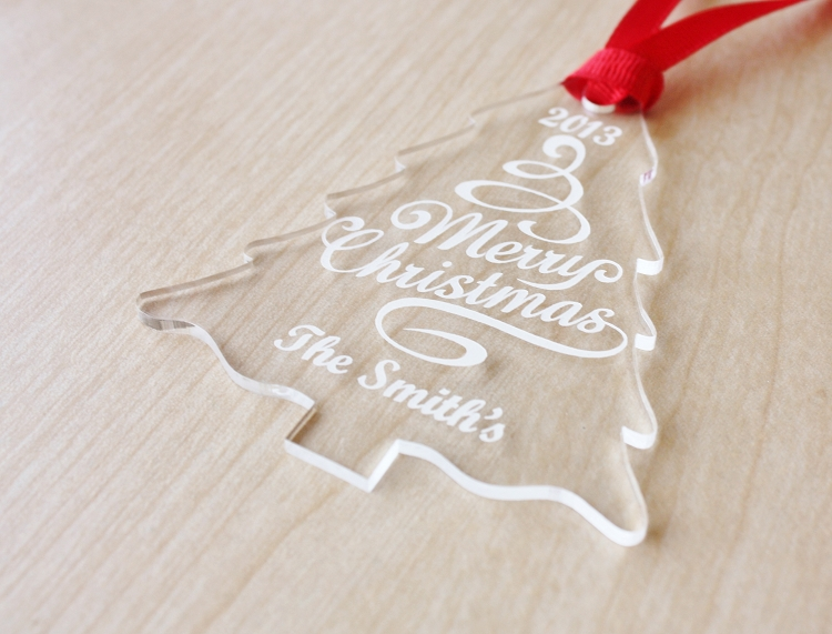 Our christmas tree personalized ornament for Custom christmas tree ornaments