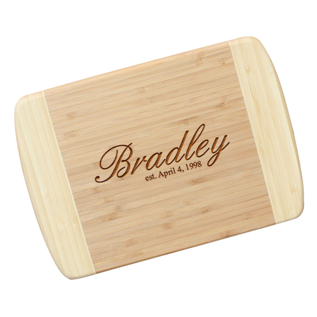 Engraved Bamboo Cutting Board The Bradley