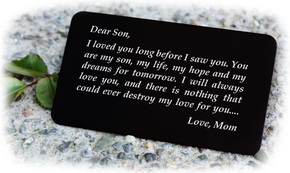 Engraved Wallet Card Gift For Son