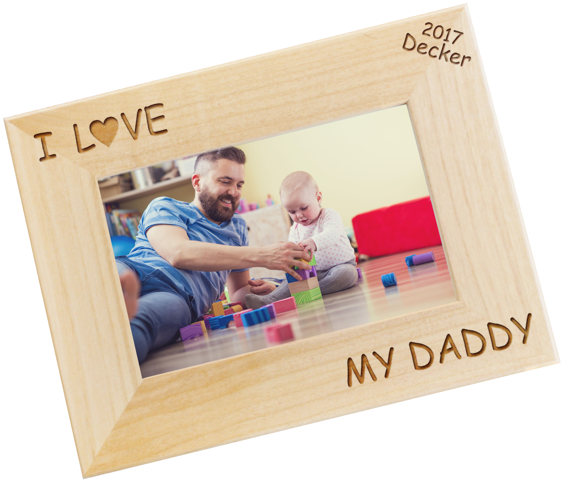 I Heart You Daddy Personalized Photo Frame
