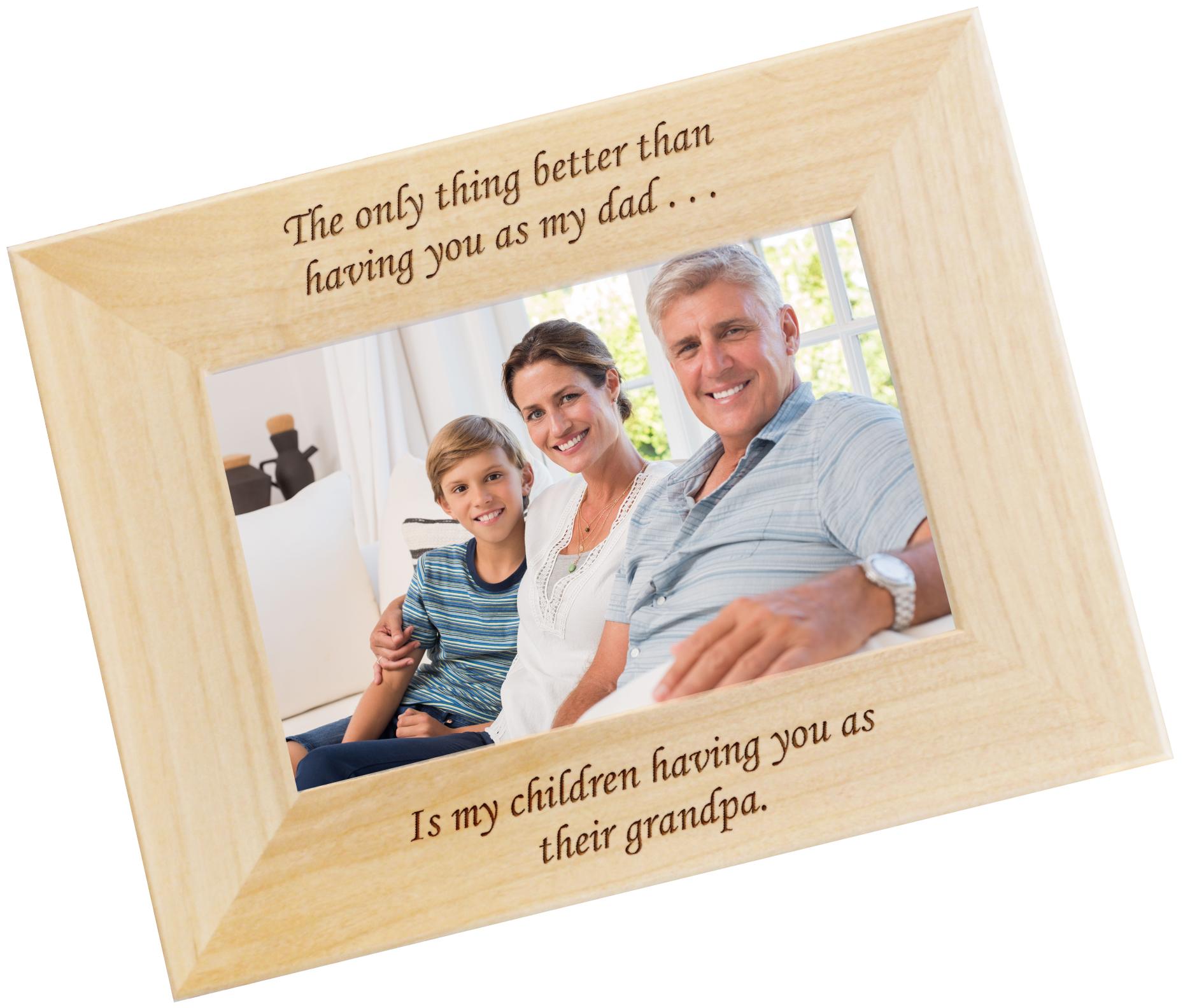 Engraved Frame For Dad