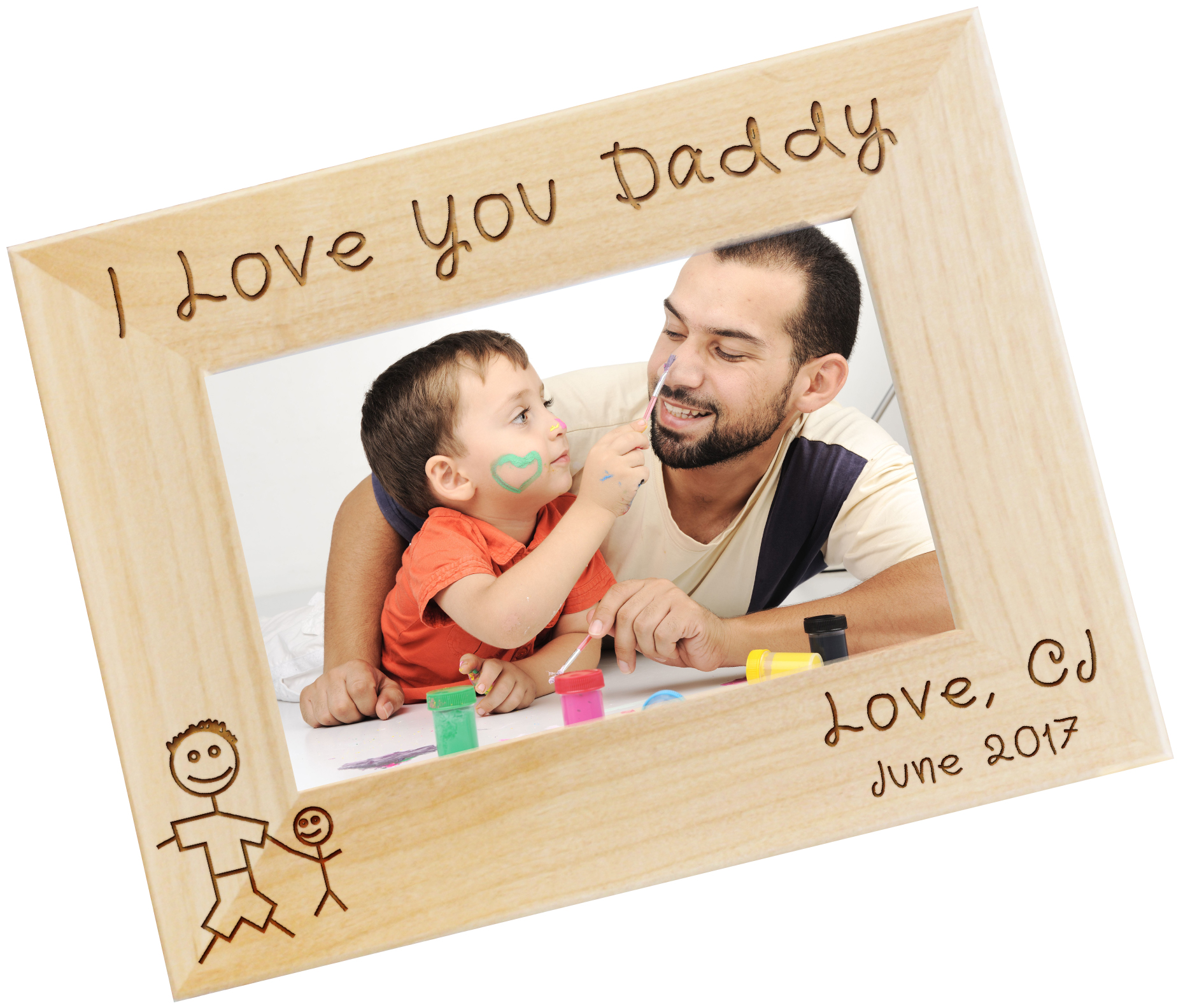 I Love My Daddy Personalized Photo Frame