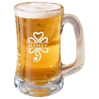 Personalized Celtic Shamrock Beer Mug