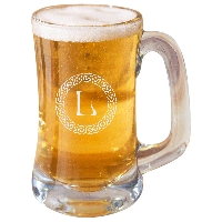Personalized Celtic Circle Monogram Beer Mug
