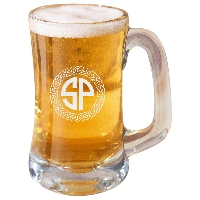 Personalized Celtic Circle Two Letter Monogram Beer Mug
