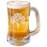 Stylized Celtic Shamrock Beer Mug
