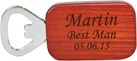 Engraved Rosewood Bottle Opener - The Sophisticated