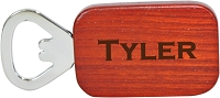 Personalized Rosewood Bottle Opener - The Gallant