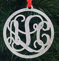Script Monogram Personalized Ornament