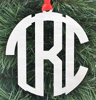 Block Monogram Personalized Ornament