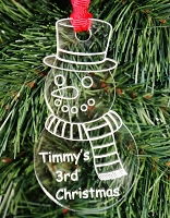 The Snowman - Personalized Ornament