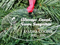 Always Loved - Engraved Christmas Ornament