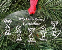 Why I Love - Personalized Christmas Ornament