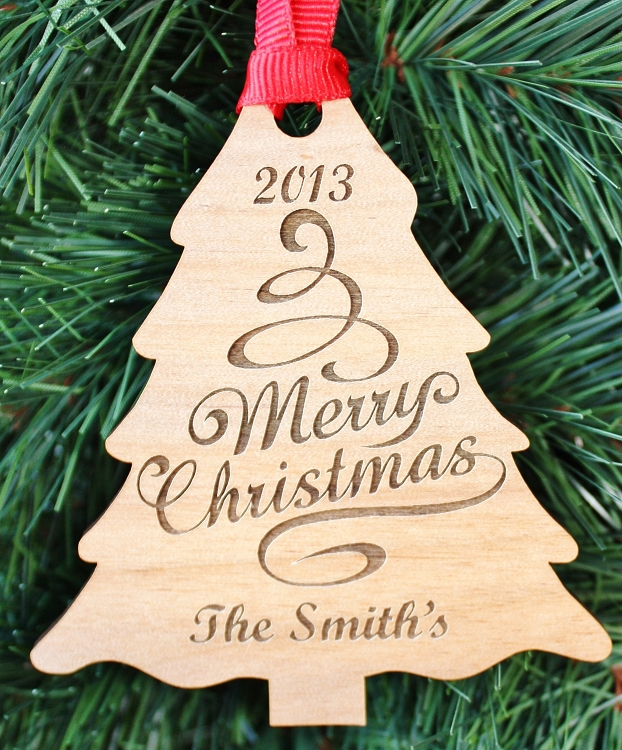 Our Christmas Tree - Engraved Wood Ornament