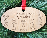 Why I Love - Wood Christmas Ornament