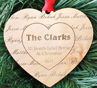 Our Family - Personalized Heart Ornament