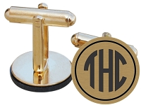 Block Monogram Cuff Links