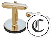 Gothic Initial Cuff Links