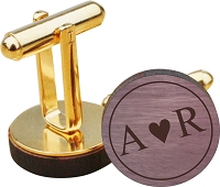 I Heart You Wood Cuff Links