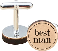Traditional Best Man Wood Cuff Links