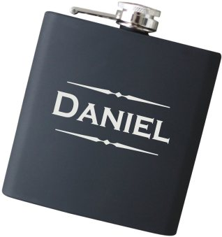 Classic 6 oz Engraved Name Flask - Choose Your Color