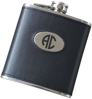 Two Initial 6 oz Leatherette Flask