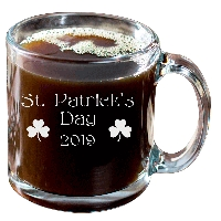 St. Patrick's Day Annual Glass Coffee Mug