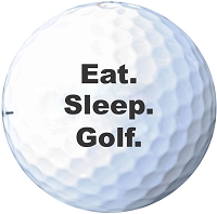 Eat. Sleep. Golf. Printed Golf Ball Set