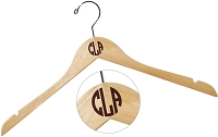 Block Monogram Wood Hanger