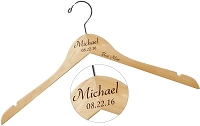Custom Wood Hanger - The Michael