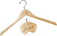 Engraved Wooden Hanger - The Jason