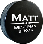 Personalized Hockey Puck - The Classic