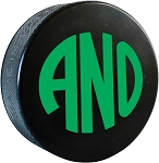 Block Monogram Hockey Puck