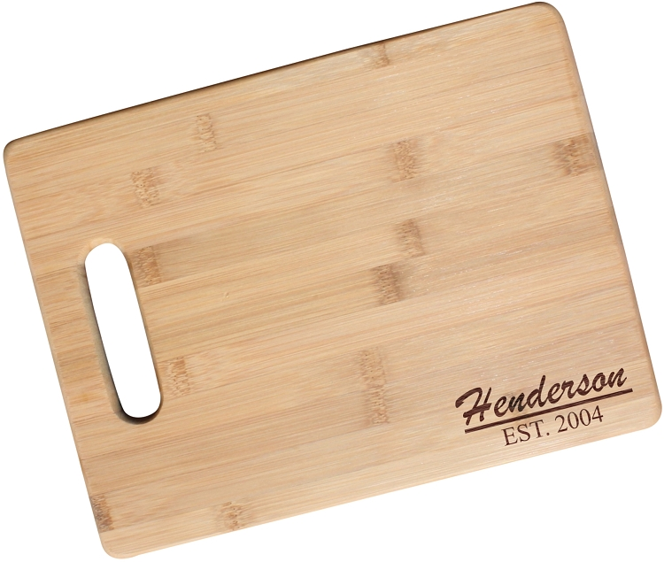 Engraved Bamboo Cutting Board The Henderson