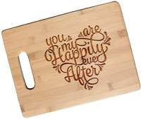 Happily Ever After Engraved Cutting Board with Handle