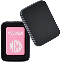 Block Monogram Flip Top Lighter