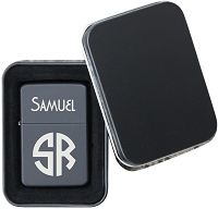 Two Initial Monogram Flip Top Lighter