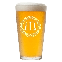 Personalized Celtic Circle Monogram Pint Glass