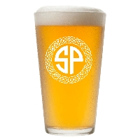 Personalized Celtic Circle Two Letter Monogram Pint Glass
