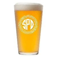 Personalized Celtic Circle Three Letter Monogram Pint Glass