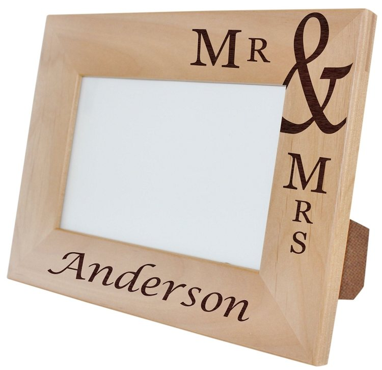 Mr. & Mrs. Personalized Photo Frame