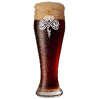Stylized Celtic Shamrock Pilsner Glass