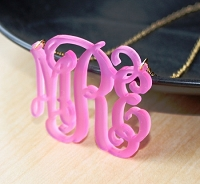 Script Monogram Necklace - Extra Large
