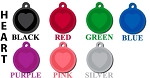 Stamped Heart Pet ID Tag