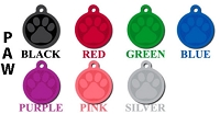 Stamped Paw Pet ID Tag