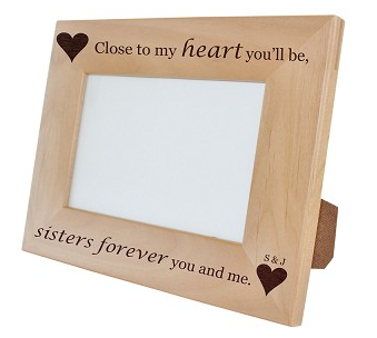 Engraved Photo Frame Personalized Photo Frame Monogrammed