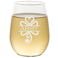 Personalized Celtic Shamrock Stemless Wine Glass