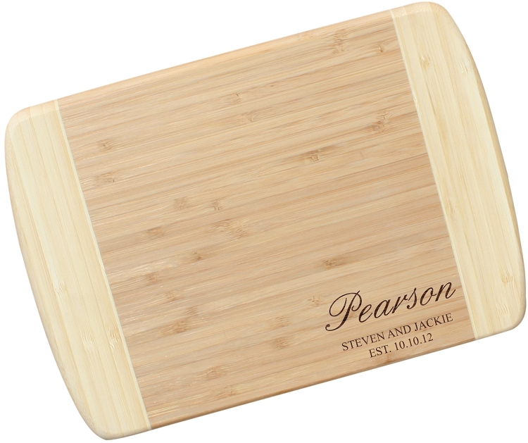 Engraved Bamboo Cutting Board The Pearson
